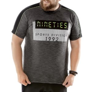Camiseta Recorte Ombros Plus TZE Mescla Escuro