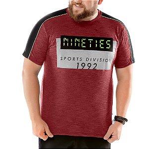 Camiseta Recorte Ombros Plus TZE Vermelha