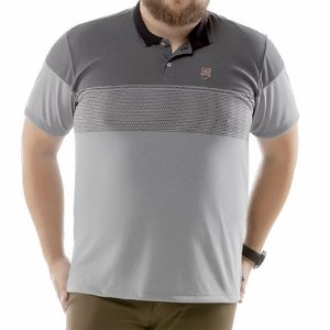Camisa Polo Chess Plus TZE Cinza