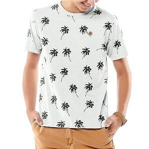 Camiseta Estampa Coqueiros Menino TZE Branca