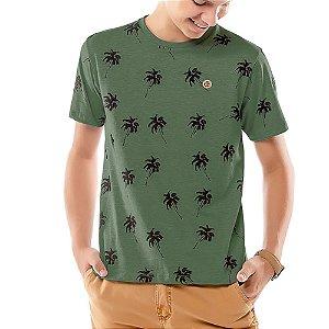 Camiseta Estampa Coqueiros Menino TZE Verde