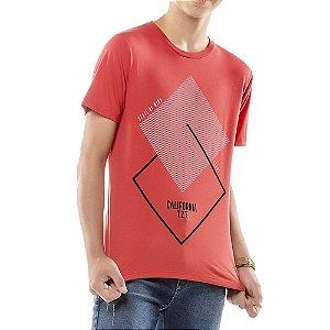 Camiseta Estampa Geométrica Menino TZE Vermelha