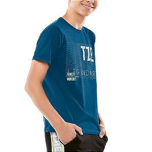 Camiseta Estampa Listras Menino TZE Azul