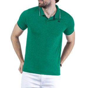 Camisa Polo Estampa Logo TZE Verde