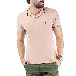 Camisa Polo Aplique Logo TZE Rosa