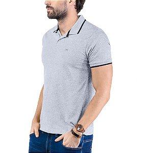 Camisa Polo Plaquinha Logo TZE Mescla