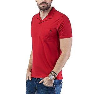 Camisa Polo Bolso TZE Vermelha