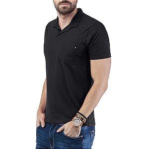 Camisa Polo Bolso TZE Preta
