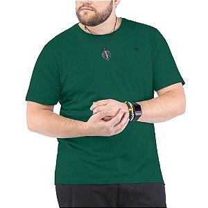 Camiseta Bordado Logo Plus TZE Verde Militar