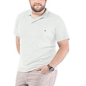 Camisa Polo Bolso Plus TZE Branca