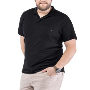 Camisa Polo Bolso Plus TZE Preta