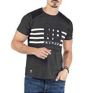 Camiseta Recorte Ombros Estampa Logo No Stress