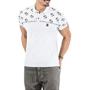 Camisa Polo Estampa Coqueiros No Stress