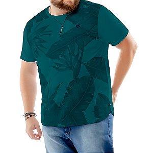Camiseta Estampa Floral Plus TZE Azul