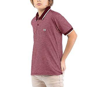 Camisa Polo Jacquard Menino TZE