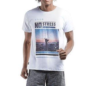 Camiseta Decote Redondo No Stress Branco