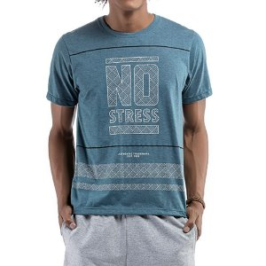 Camiseta C/ Estampa No Stress Azul