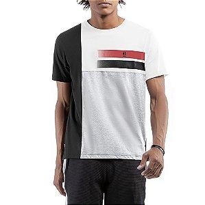 Camiseta C/ Estampa No Stress Branca C/ Preta