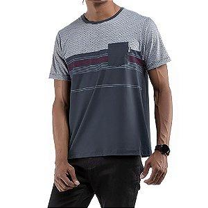 Camiseta C/Bolso No Stress Grafite