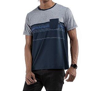 Camiseta C/Bolso No Stress Azul