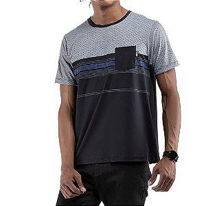 Camiseta C/Bolso No Stress Preta
