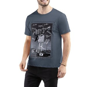 Camiseta C/ Estampa TZE Grafite