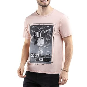 Camiseta C/ Estampa TZE Rosa