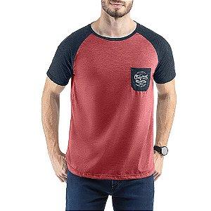 Camiseta C/ Bolso e Estampa TZE Vermelha