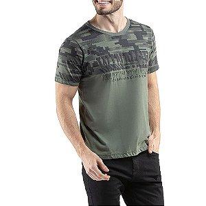 Camiseta C/ Estampa TZE Verde Folha