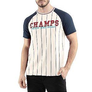 Camiseta C/ Estampa Champs TZE Branca