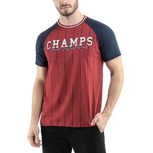 Camiseta C/ Estampa Champs TZE Vermelha