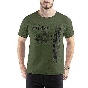 Camiseta C/ Estampa Wilder TZE Verde Folha