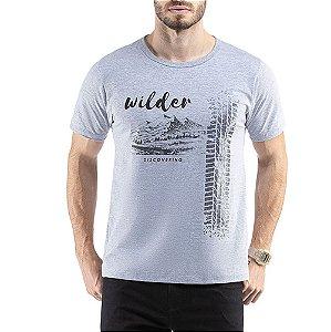 Camiseta C/ Estampa Wilder TZE Cinza