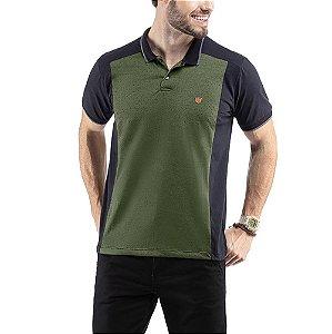 Polo C/ Aplique TZE Verde Folha