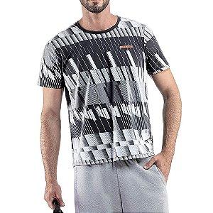 Camiseta Esportiva C/ Estampa Endorfina Branca