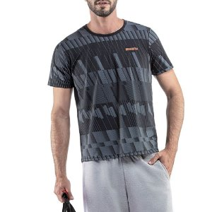 Camiseta Esportiva C/ Estampa Endorfina Grafite