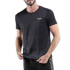 Camiseta Esportiva C/ Listras Endorfina Preta