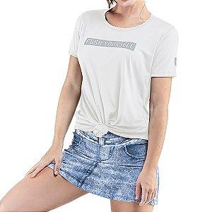 Blusa Esportiva C/ Estampa Endorfina Branca