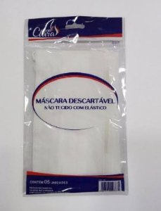 Mascara Descartável Tnt C/Elástico C/5 Uni  733