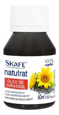 ÓLEO VEGETAL GIRASSOL 60 ML SKAFE 100% PURO E NATURAL