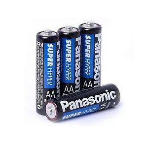 Pilha Panasonic AA Super Hyper Comum 2 A C/ 4 Und