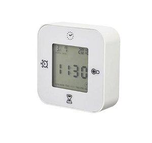 Timer Digital Branco Cronômetro Quadrado