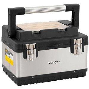 Caixa Para Ferramentas Tipo Maleta Baú Aço Inox Cbi-020 Vonder