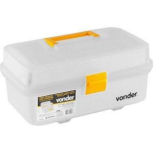 Caixa Plástica Organizadora Para Ferramentas Parafusos Uso Geral 2 Bandejas - Vonder