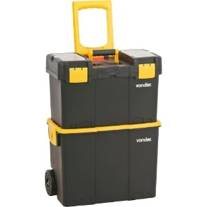 Caixa plástica para ferramentas baú 460x260x625mm com rodas crv0300 - Vonde