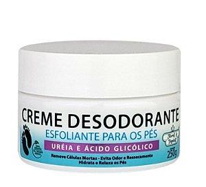 Creme Desodorante Esfoliante Para Pés 250g Flores E Vegetais