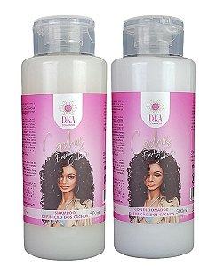 Dka Cosméticos Cachos Enrolados E Cacheados Shampoo E Condicionador 500 mL