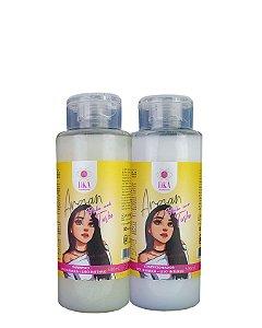 Shampoo E Condicionador Pós Quimica Argan Brilho Modo Turbo Dka Cosméticos