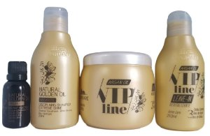 Varcare Kit argan Vip Line golden Oil - 4 Produtos