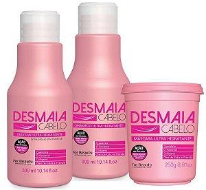 Kit Desmaia Cabelo For Beauty Ultra Hidratante 03 Produtos